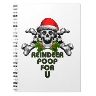 Christmas Skull: Reindeer Poop Notebook