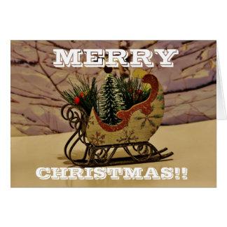 Christmas Sled Christmas Greeting Card