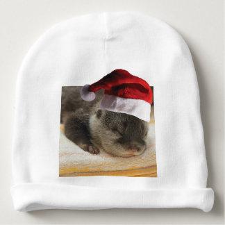 Christmas Sleepy Otter Baby Beanie