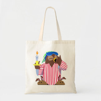 Christmas Sleepy Owl Tote Bag
