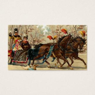 """Christmas Sleigh Ride"" Business Card"