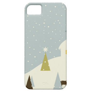 Christmas small house barely there iPhone 5 case