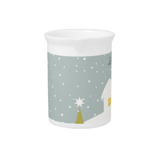 Christmas small house drink pitchers