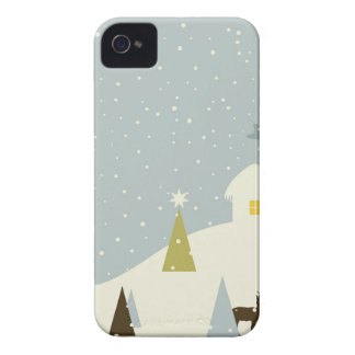 Christmas small house iPhone 4 Case-Mate cases