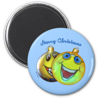 Christmas Smilies Fridge Magnet