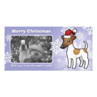 Christmas Smooth Fox Terrier Custom Photo Card