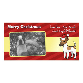 Christmas Smooth Fox Terrier Picture Card