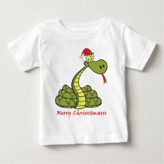 christmas snake in santa hat shirt