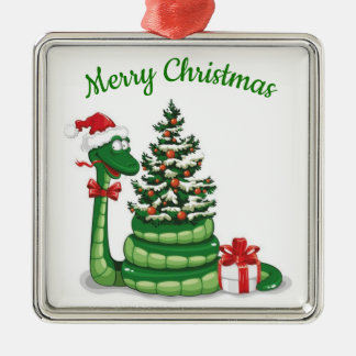 Christmas Snake Metal Ornament