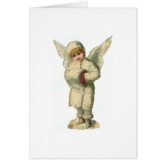 Christmas Snow Angel Card