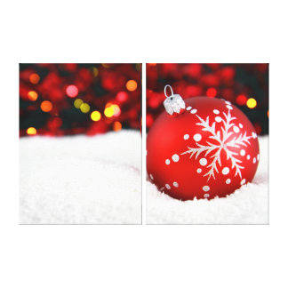 Christmas Snow Canvas Prints
