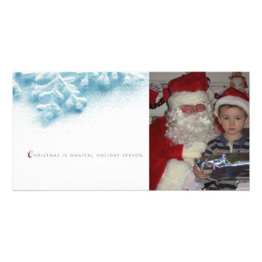 Christmas snow flake Holiday Photo Card