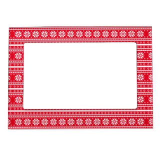 Christmas snow flake magnetic picture frame