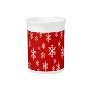 christmas snow flake pattern drink pitcher
