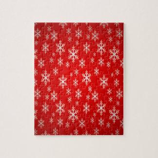 christmas snow flake pattern jigsaw puzzle