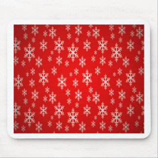 christmas snow flake pattern mouse pad