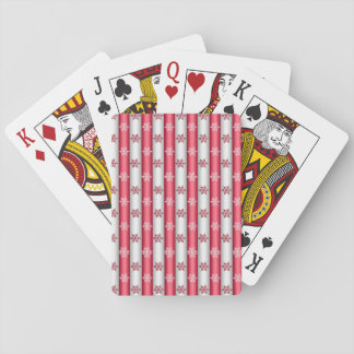 Christmas Snow Flakes Playing Cards