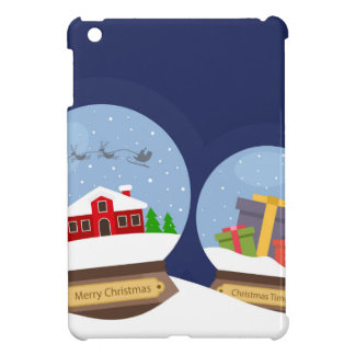 Christmas Snow Globes and Santa Claus Present iPad Mini Case