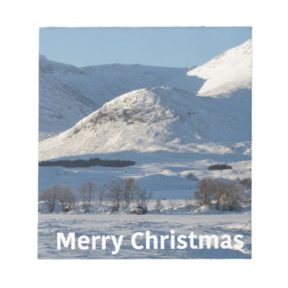 christmas snow in winter notepad