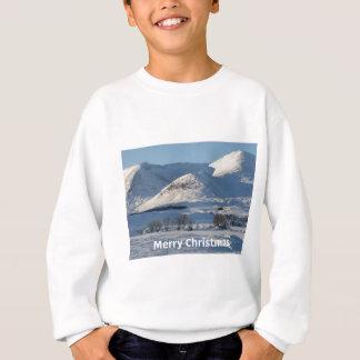christmas snow in winter sweatshirt