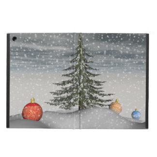 christmas snow iPad air cover