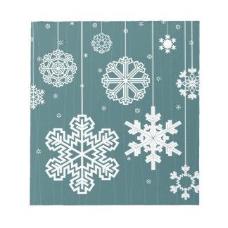 Christmas snow notepad
