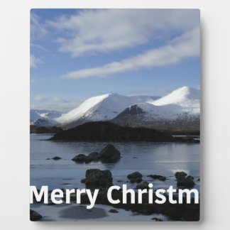 Christmas snow on Black Mount , Scotland Plaque