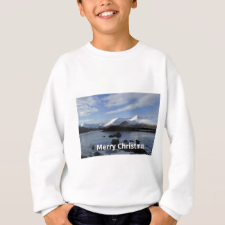 Christmas snow on Black Mount , Scotland Sweatshirt