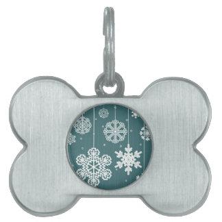 Christmas snow pet tag