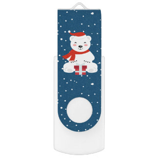 Christmas Snowbear USB Flash Drive