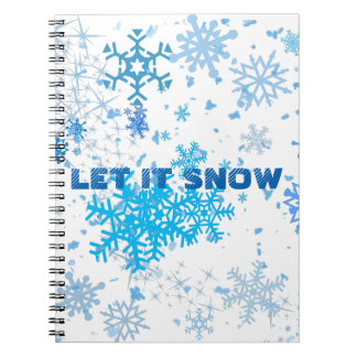Christmas Snowfall Notebooks