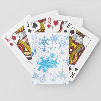Christmas Snowfall Poker Deck