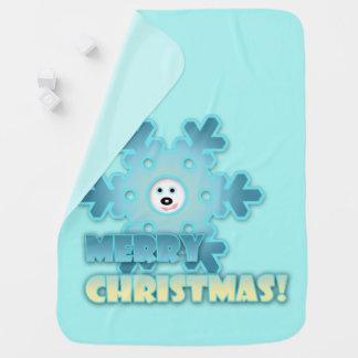 Christmas snowflake baby blanket