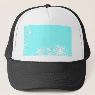Christmas Snowflake Background Trucker Hat