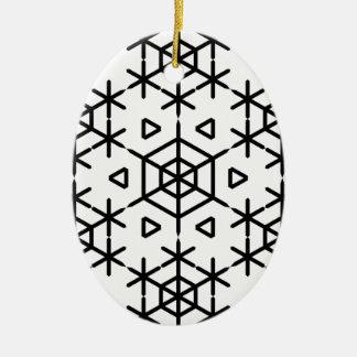 Christmas snowflake ceramic ornament