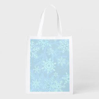 Christmas Snowflake Foldable Shopping Bag