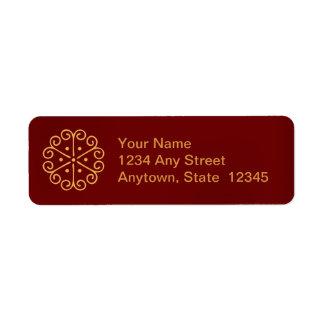 Christmas Snowflake Holiday Return Address Labels