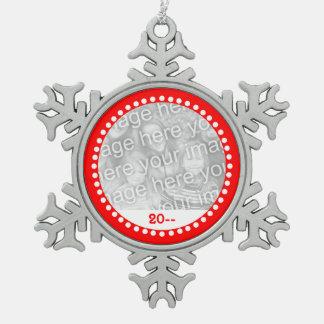 Christmas snowflake keepsake snowflake pewter christmas ornament