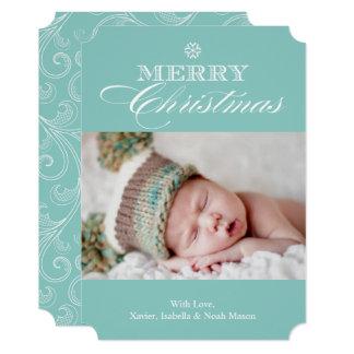 Christmas Snowflake | Light Blue Card