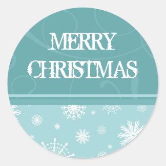 Christmas Snowflake Merry Christmas Stickers