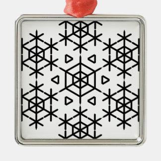 Christmas snowflake metal ornament