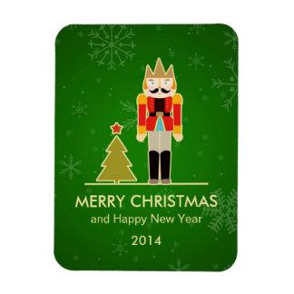 Christmas Snowflake - Nutcracker Holiday Greeting Rectangular Photo Magnet