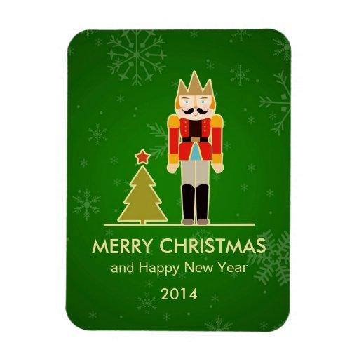 Christmas Snowflake - Nutcracker Holiday Greeting Magnet