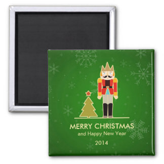 Christmas Snowflake - Nutcracker Holiday Greeting Square Magnet