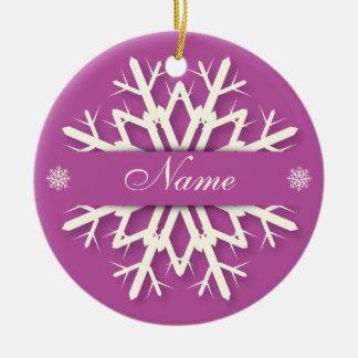 Christmas Snowflake Ornament - Name & Message