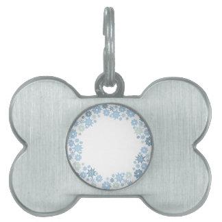 Christmas Snowflake Pattern Gift Pet Tag
