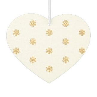 Christmas snowflake pattern gold, customizable BG Car Air Freshener