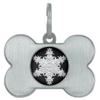Christmas snowflake pet tag