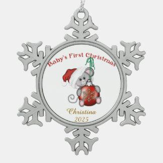 Christmas Snowflake Pewter Christmas Ornament