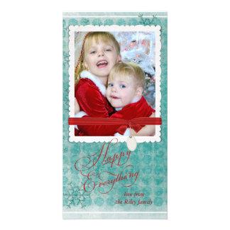 Christmas snowflake photo frame card